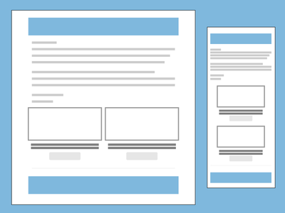 Responsive Email Template flat ui responsive email ux ui mockup grid wireframe template email responsive