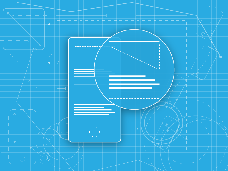 Blueprint/Wireframe magnify ux ui flat mobile prototype wireframe blueprint