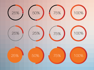 Circular Progress Bar progress bar percentage flat ui status circular circle