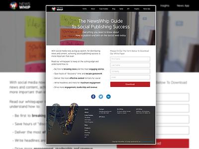 White Paper Landing Page flat design web design landing page ebook whitepaper newswhip