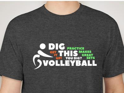 T-Shirt Design logo t-shirt vollyeball design