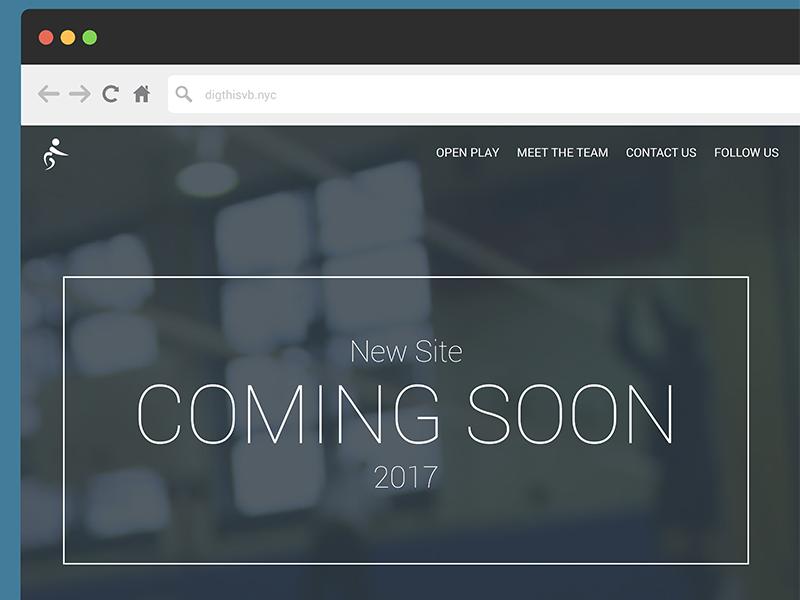 Rebrand Dig This Volleyball web development web responsive soon designcoming responsive ux ui website