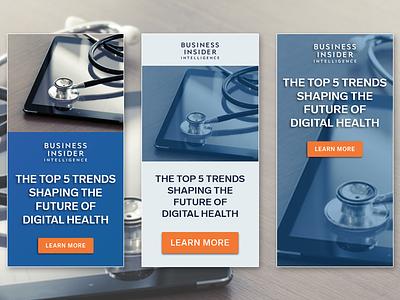 Digital Health Banner Ad web design digital health advertising design banner ads health digital marketing simple ui
