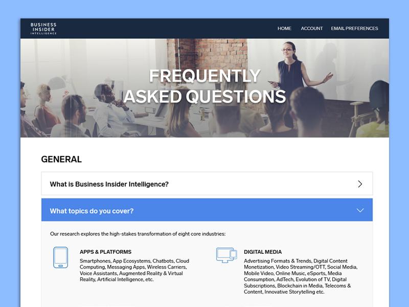 FAQ landing page web design icons website ui design web faq