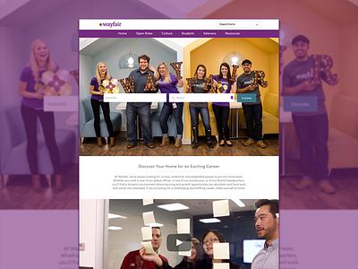 Wayfair Career Site landing page web design wordpress website design web wayfair