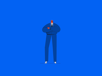 Security guard animation 2d duik duik bassel animated gif animated security characterdesign character aftereffects animation
