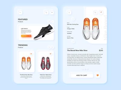 Neumorph / Skeuomorph Shopping App