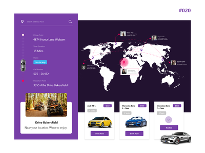 Location Tracker | #020 car booking booking daily 100 challenge location tracker icon landing page minimal creative designer branding design design ux ui chennai