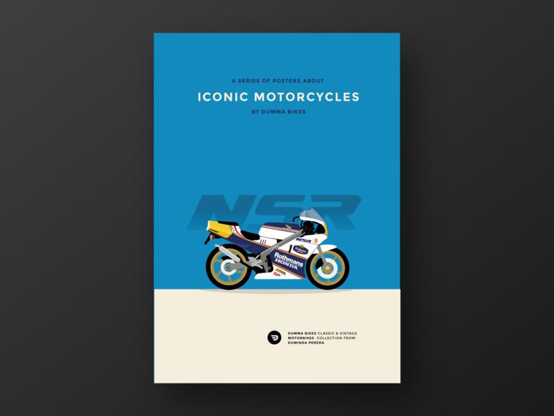 Rothmans Honda NSR MC18 PGM 2 posterdesign poster bikeporn classicbike dummabikes racing honda