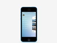 Iphone 5c menuopen mock up