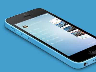 News App Menu Open