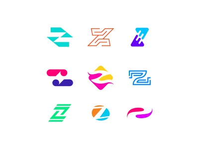 Letter Z exploration brand verbicons cool logo clever simple mark logos monogram icon