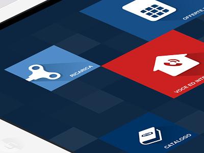TIM Sales app Proposal sales app ipad iphone telecom tim mokeup psd png