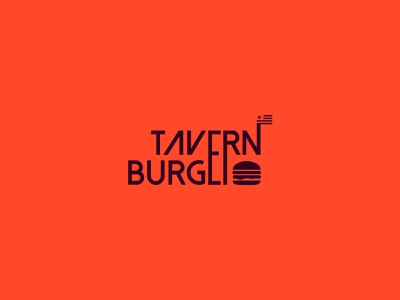 Tavern Burger logo proposal verbicons brand cool logo simple clever mark logos icon monogram burger