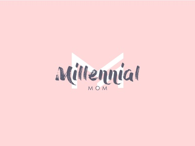 Millennial Mom logo cool logo simple clever mark logos monogram icon illustration children women mom