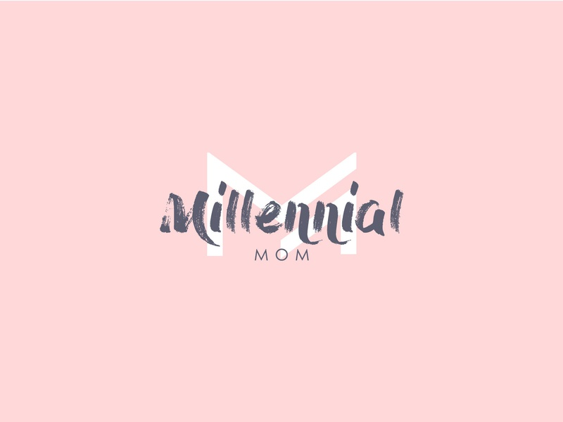 Millennial Mom logo cool logo simple clever mark logos monogram icon illustration children women mom