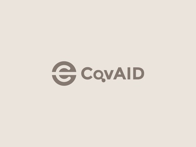 CovAid logo proposal verbicons brand cool logo simple clever mark logos monogram icon aid covid