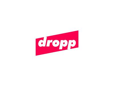 dropp logo brand cool logo simple clever mark logos monogram icon design dropp