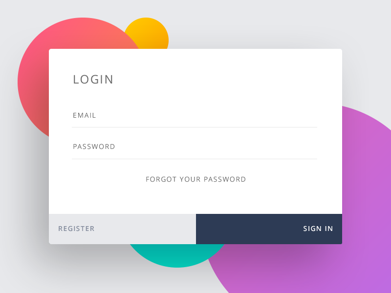 Daily UI :: 001 Day 001 Sign Up dailyui element sign login input form user interface flat widget day001 daily100