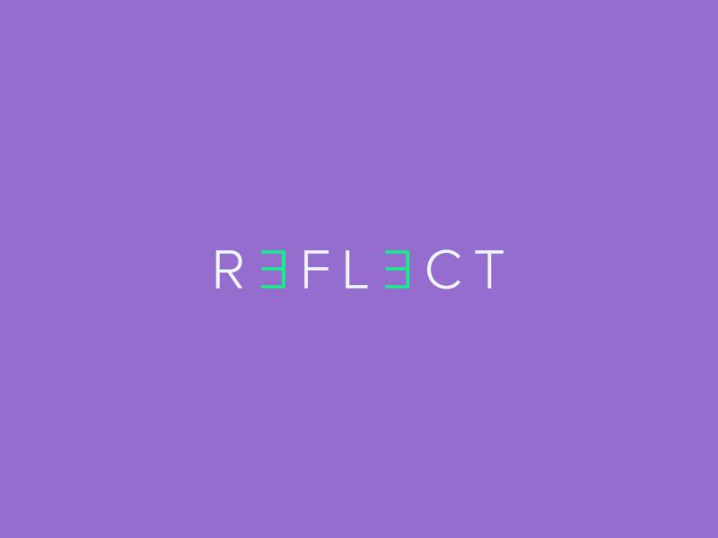 Reflect wordmark / Verbicons steps mark monogram word simple icon brand logos wordmark clever verbicons