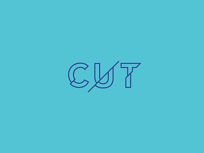Cut Wordmark / Verbicons cut mark monogram word simple icon brand logos wordmark clever verbicons