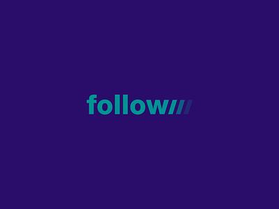 Follow Wordmark / Verbicons follow mark monogram word simple icon brand logos wordmark clever verbicons