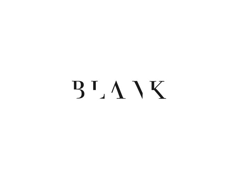 Blank v2 Wordmark / Verbicons blank mark monogram word simple icon brand logos wordmark clever verbicons