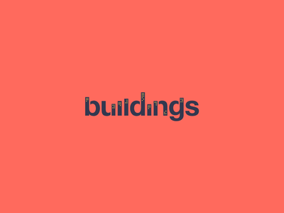 Buildings Clever Wordmark / Verbicons verbicons clever skyline logos flat icon simple buildings monogram typo