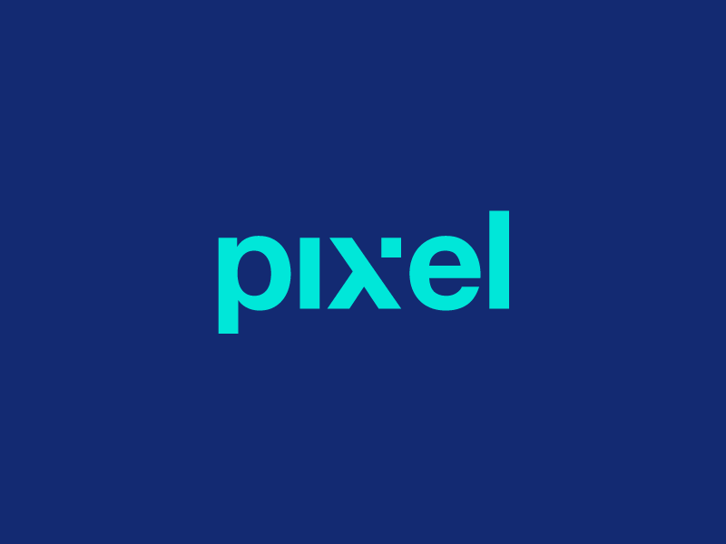 Pixel Clever Wordmark / Verbicons verbicons mark pixels logos flat icon simple clever monogram typo pixel