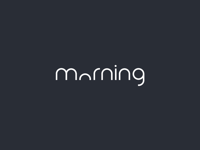 Clever Logo Morning Wordmark / Verbicons morning 2017 calendar verbicons mark logos flat icon simple clever monogram typo