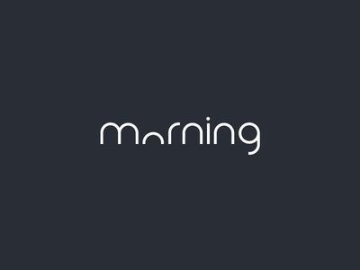 Clever Logo Morning Wordmark / Verbicons