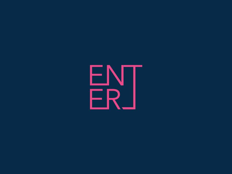Enter Clever Wordmark / Verbicons pixel typo monogram clever simple icon flat logos enter mark verbicons
