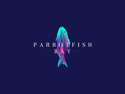 Parrotfish Bay logo fish srilanka mirissa villa beach bay parrotfish proposal logo