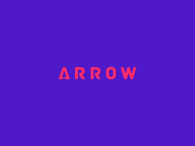 Arrow Clever Wordmark / Verbicons fast typo monogram clever simple logos enter iocn verbicons cool mark arrow