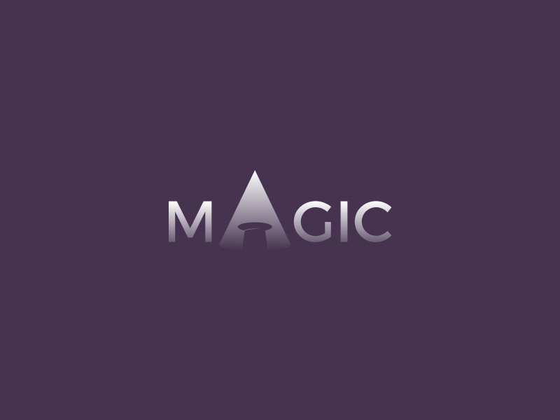 Magic Clever Wordmark / Verbicons show typo monogram clever simple logos enter mark verbicons light spot magic