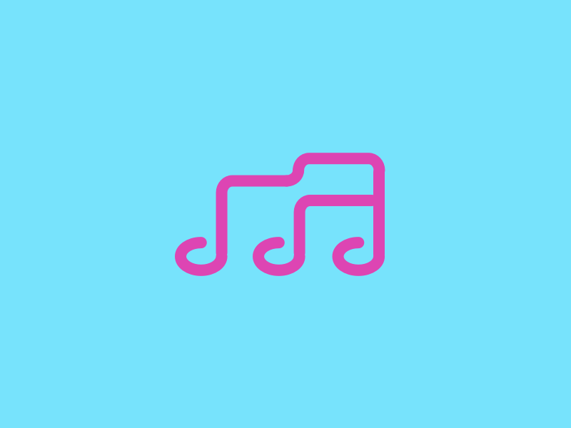 M for Music cool typo monogram clever simple logos enter mark verbicons word m music