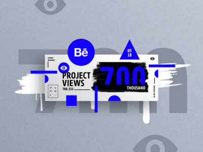 Behance projects views 700k