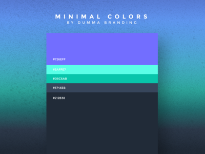Minimal Colors are back