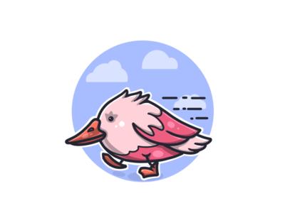 a running bird 🏃♂️