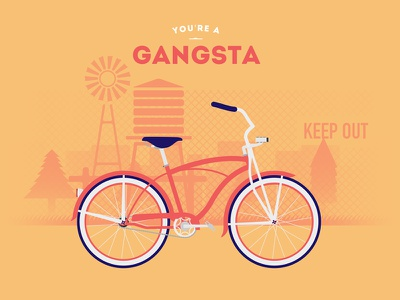 Gangsta cycle bike biking cyclemon cyclism vélo ride riding gangsta lifestyle poster