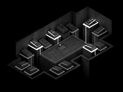 Singular - Video game iso landscape 3d isometry video game singular computer augmented reality black white