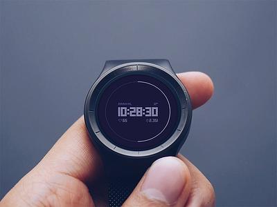 Countdown app for smartwatch 014 dailyui debut countdown smart wear flat android smartwatch watch