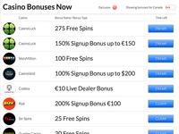 List of Casino Bonuses