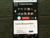 Mobile Casino Review page