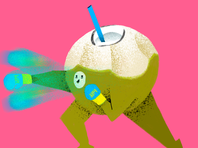 Coconut Guy coconut behance branding beautiful procreate noise shadow noise illustrator illustrations illustration dribbble design colors color palette colorful brazil artist art andresuzuki