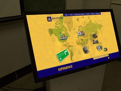 Touchscreen Travel Company (img 1) web app design