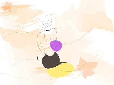 Mulher entre linhas linhas template art mulher designgraphic desinger illustrator design art vector design art illustrator art illustration