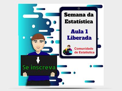 Semana da Estatística flyer template flyers flyer artwork flyer banners creative curso design desinger designgraphic vector design art illustration