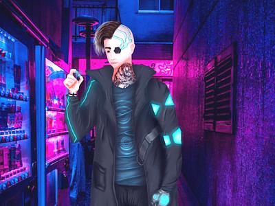 Cyberpunk digital illustration digitalart artist cyberpunk illustrator design design art desenho arte digital personagem photoshop art illustrator art illustration