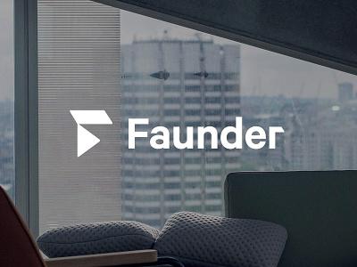 Faunder Logo No.04 button play branding logo f smart home home faunder